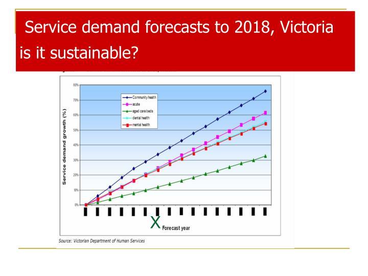 Service demand forecasts to 2018, Victoria