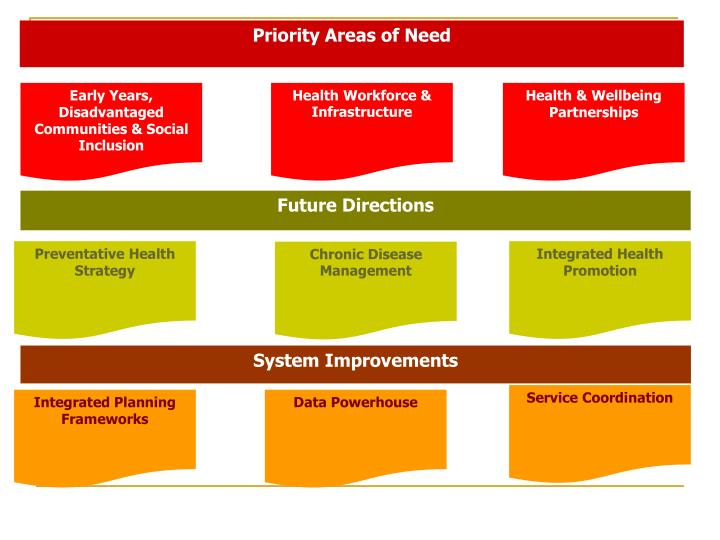 Priority Areas of Need