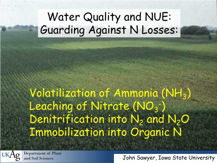 Water Quality and NUE: