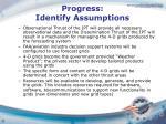 progress identify assumptions
