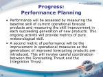 progress performance planning