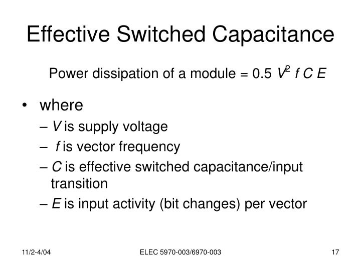 Effective Switched Capacitance