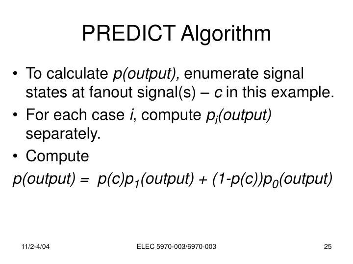 PREDICT Algorithm