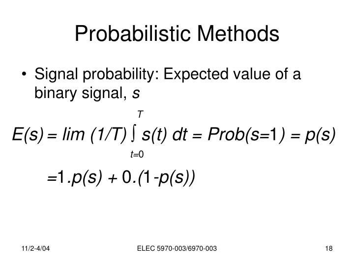 Probabilistic Methods