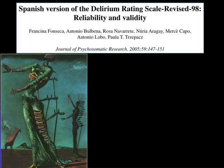 Spanish version of the Delirium Rating Scale-Revised-98: