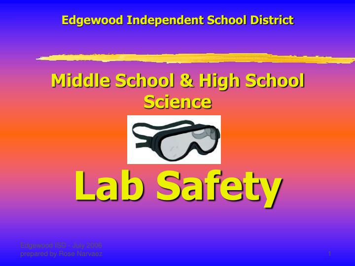PPT - Edgewood Independent School District Middle School