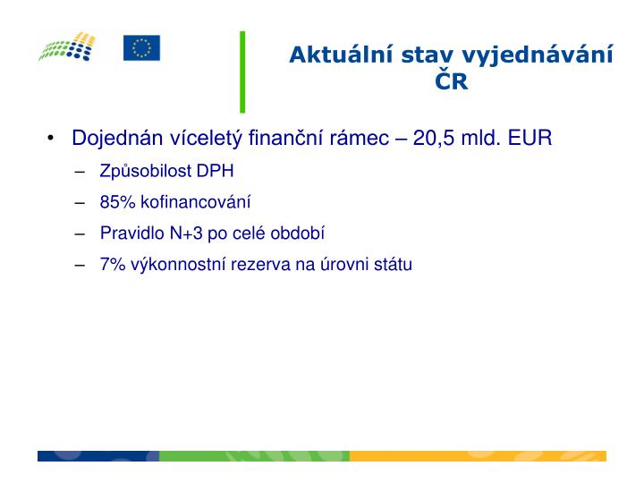 Dojednán víceletý finanční rámec – 20,5 mld. EUR