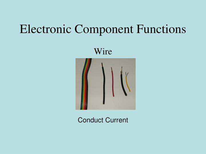 Electronic component functions1