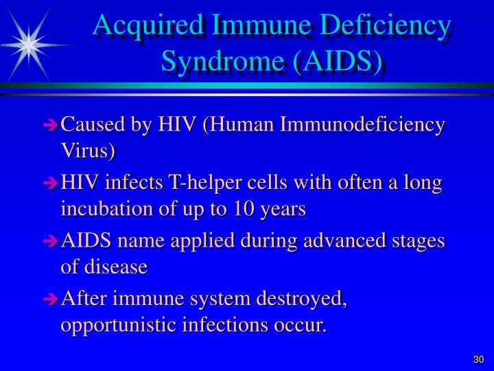 Acquired Immune Deficiency Syndrome (AIDS)
