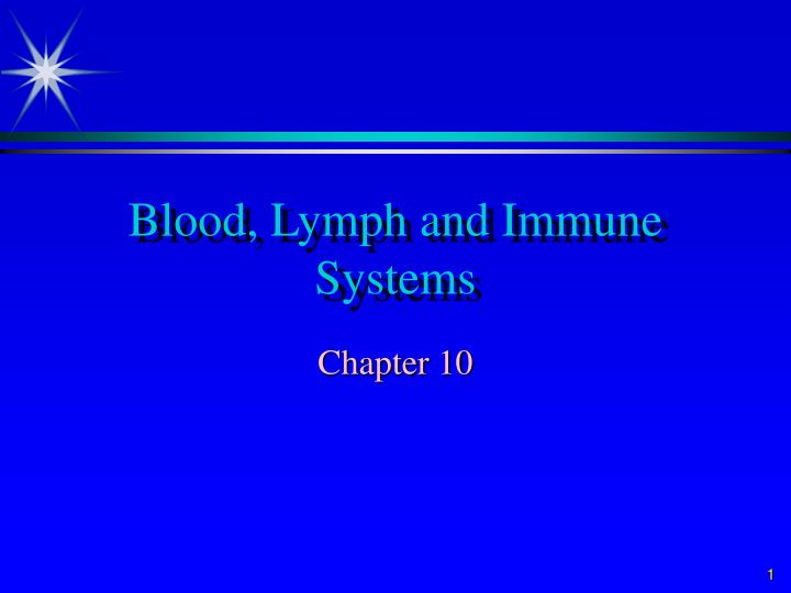 Blood lymph and immune systems