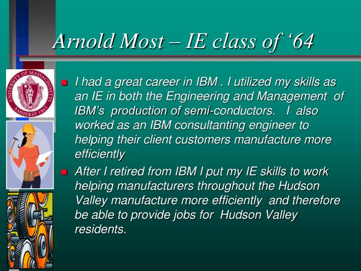 Arnold Most – IE class of '64