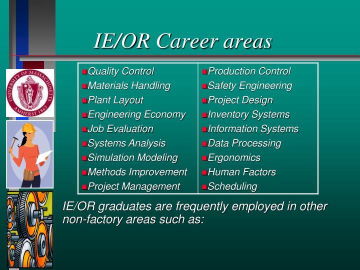 IE/OR Career areas