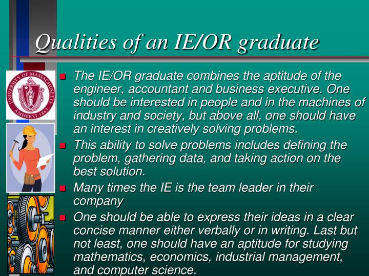 Qualities of an IE/OR graduate