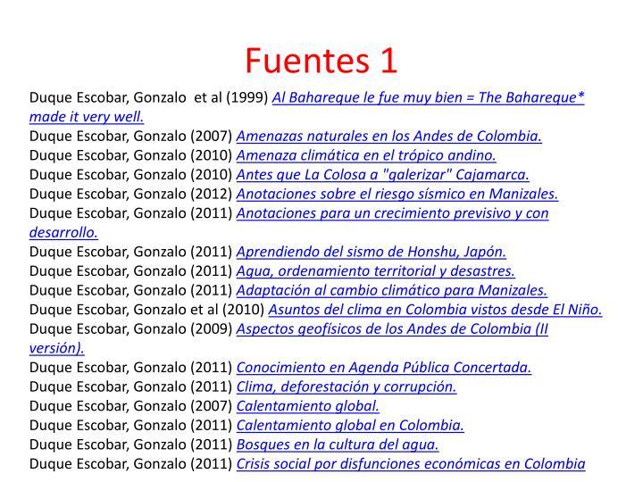 Fuentes 1