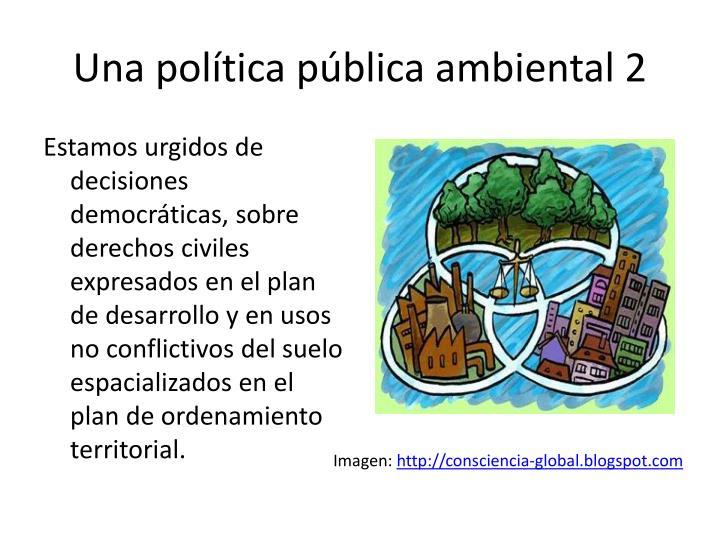 Una política pública ambiental 2