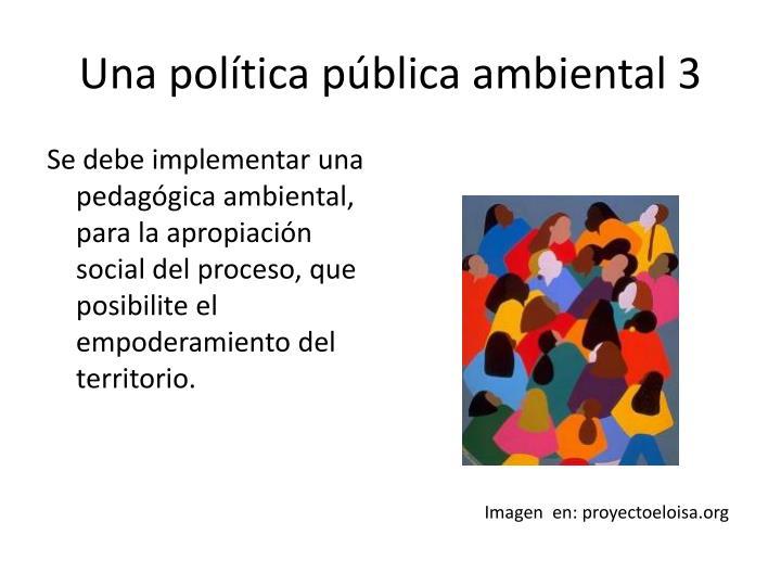 Una política pública ambiental 3