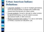 urban american indians definitions