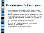 urban american indians denver