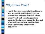 why urban clinic