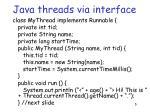 java threads via interface