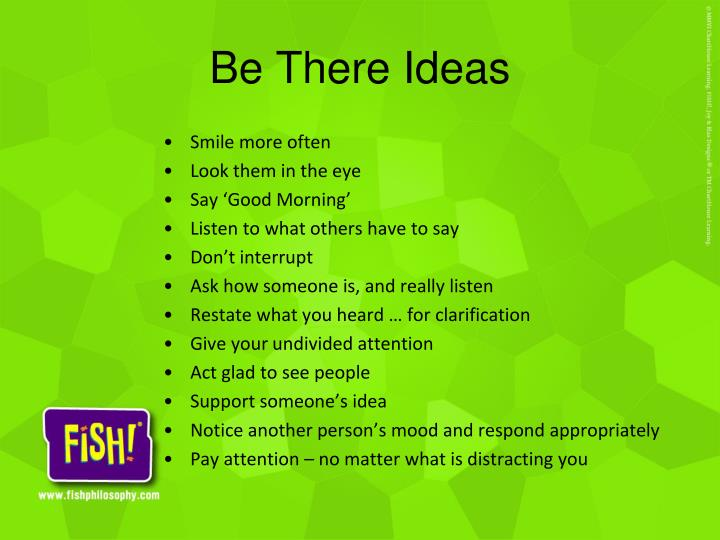 Be There Ideas