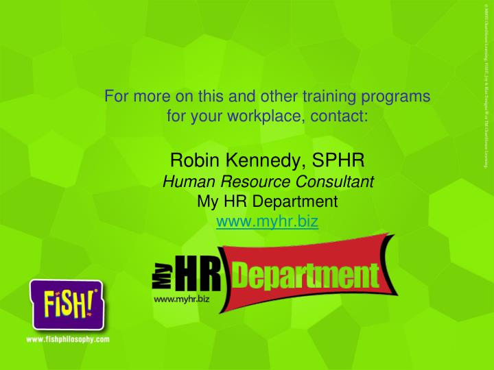 For more on this and other training programs