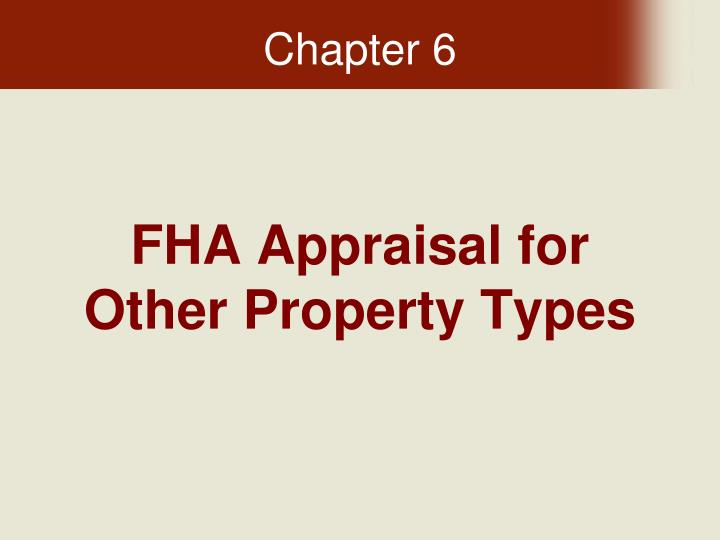 fha appraisal for other property types n.