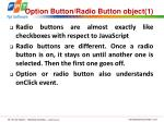 option button radio button object 1