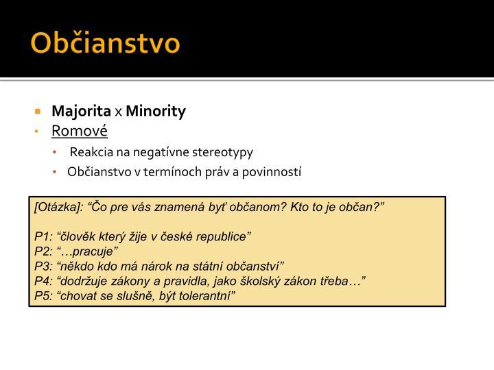 Občianstvo