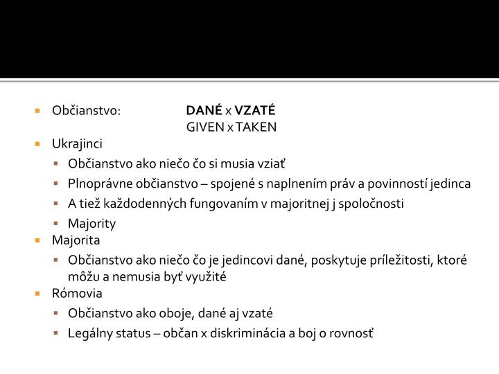 Občianstvo: