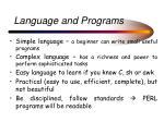 language and programs
