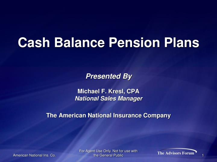 a look at cash balance pension plan in corporate america The primary objective of this research project is to evaluate whether there are pervasive issues with measuring cash balance plan on cash balance pension.