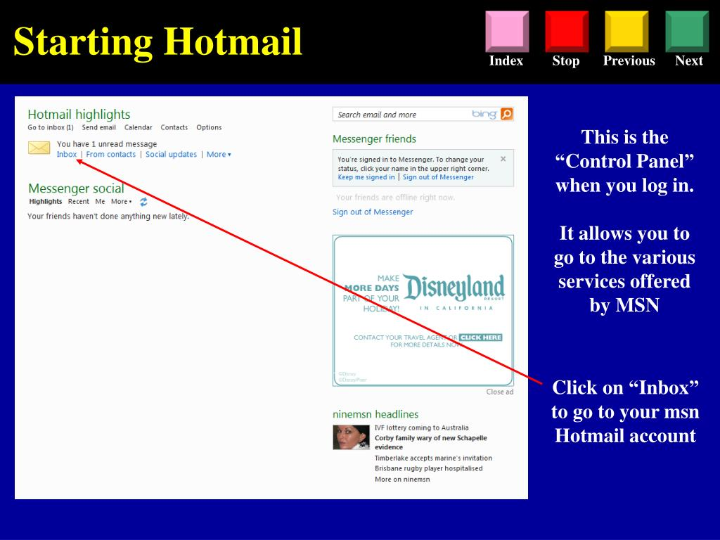 PPT - Hotmail Tutorial PowerPoint Presentation - ID:4639472