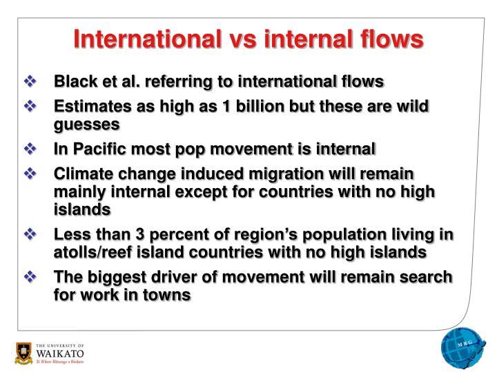 Black et al. referring to international flows