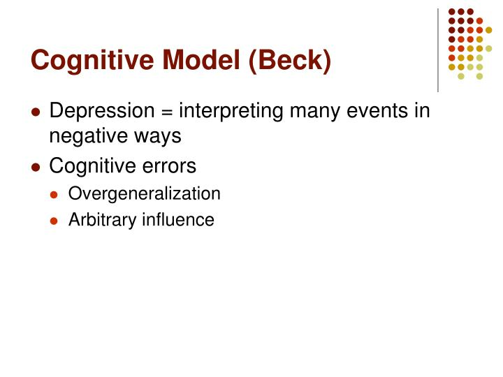 Cognitive Model (Beck)