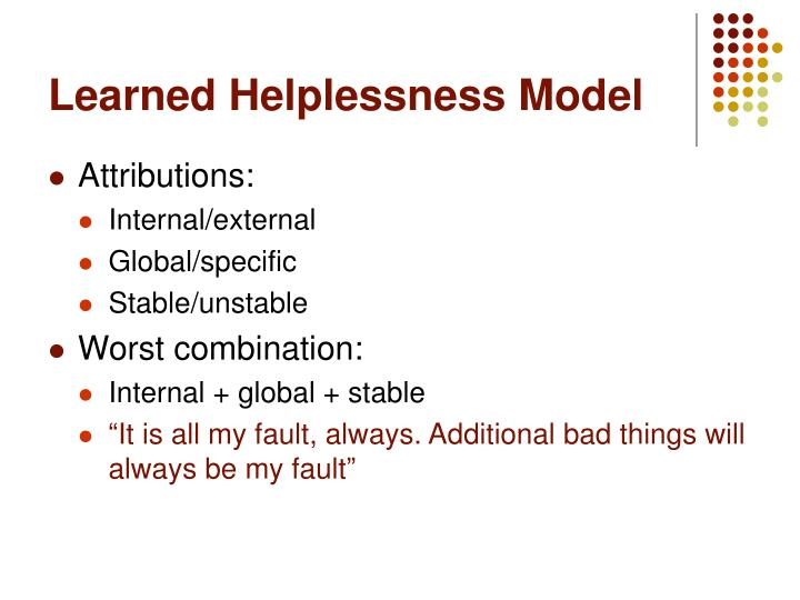 Learned Helplessness Model