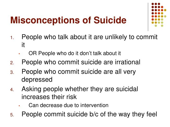 Misconceptions of Suicide