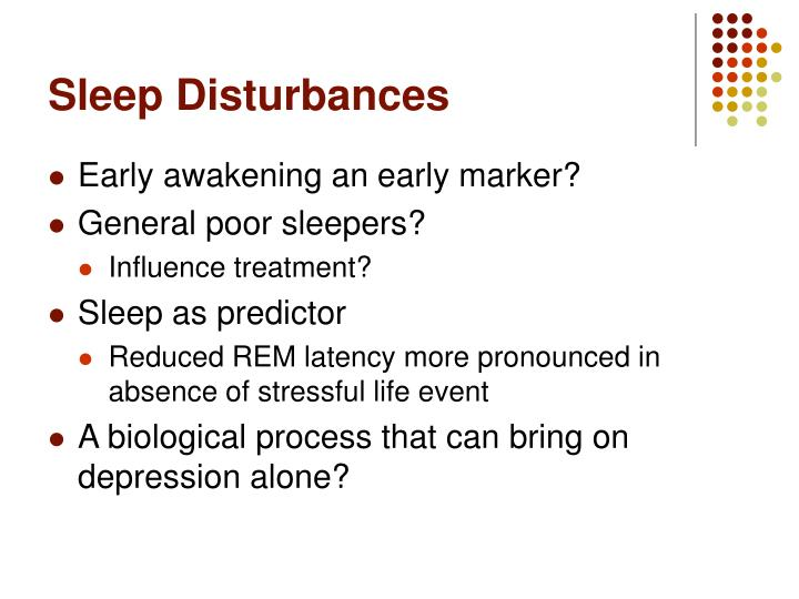 Sleep Disturbances