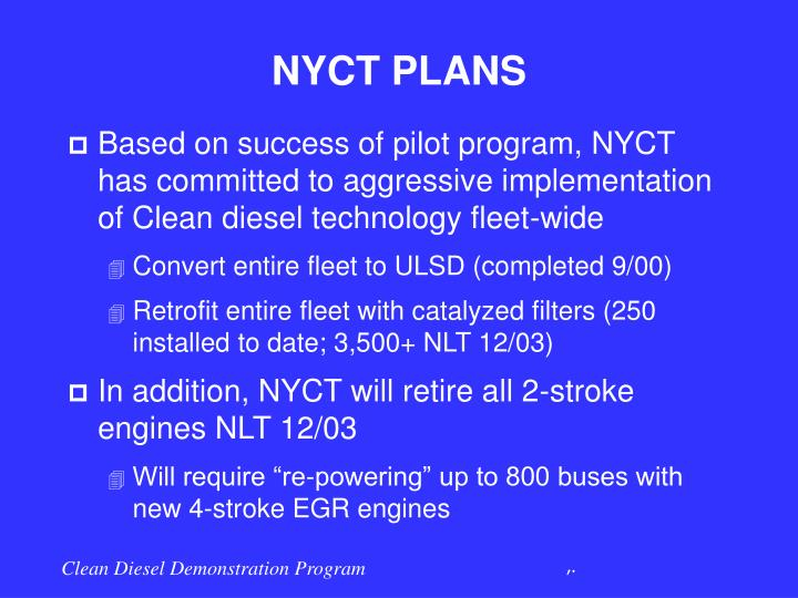 NYCT PLANS