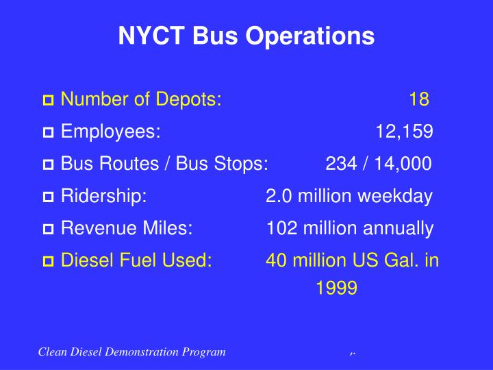 NYCT Bus Operations