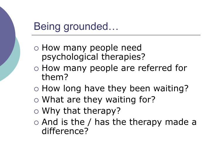 Being grounded…