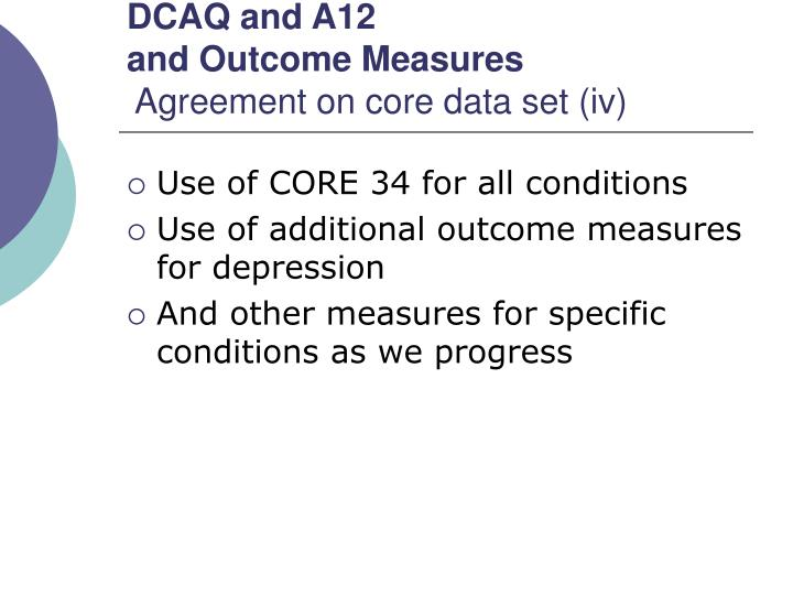 DCAQ and A12