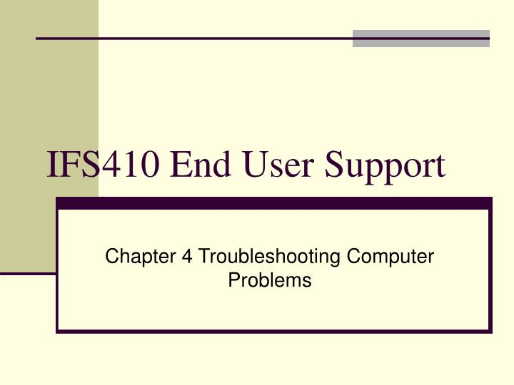 ifs410 end user support n.