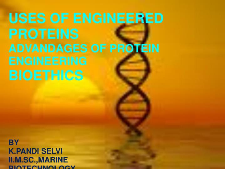 USES OF ENGINEERED PROTEINS