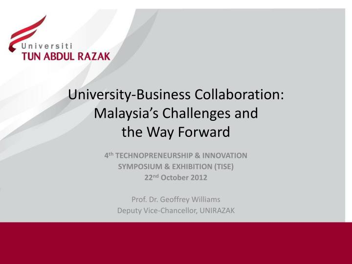 university business collaboration malaysia s challenges and the way forward n.