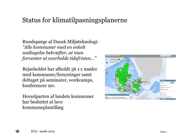 Rundspørge af Dansk Miljøteknologi: