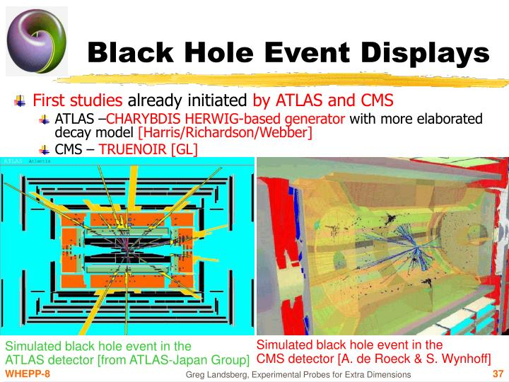Black Hole Event Displays