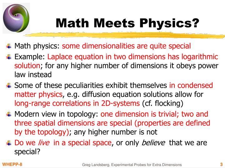 Math meets physics