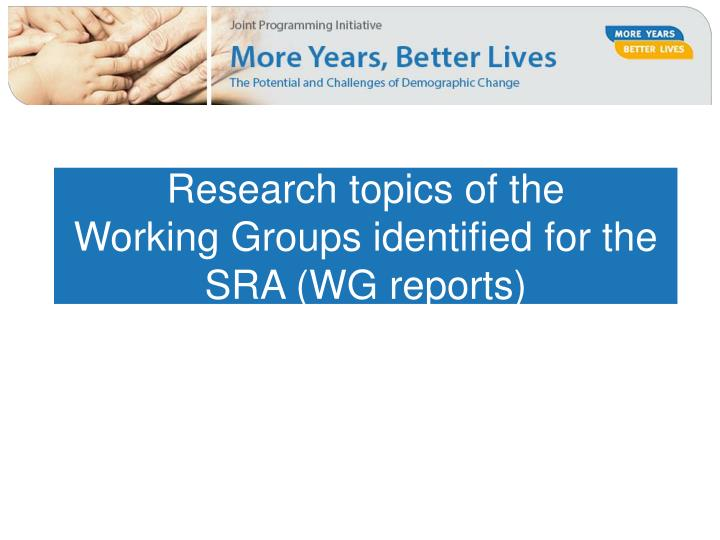 Research topics of the