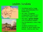 leaders sundiata